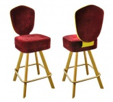 Metal swivel chairs for card tables, high