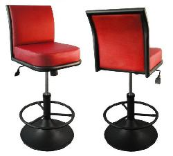 Metal chairs for slot machines
